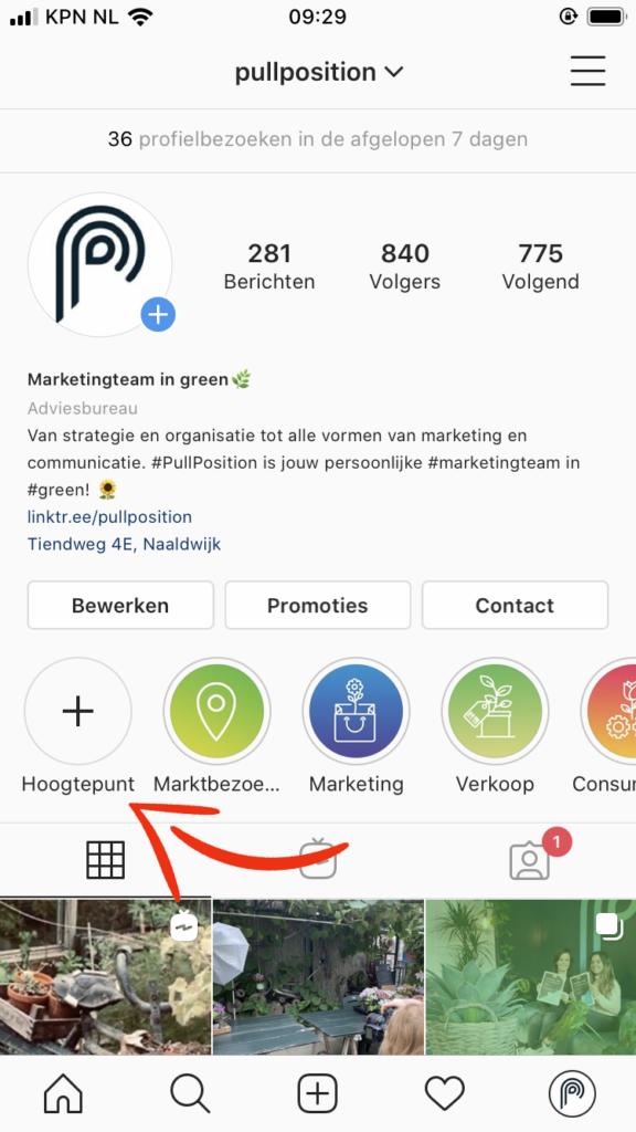 Stories kun je bewaren in hoogtepunten op je Instagram profiel