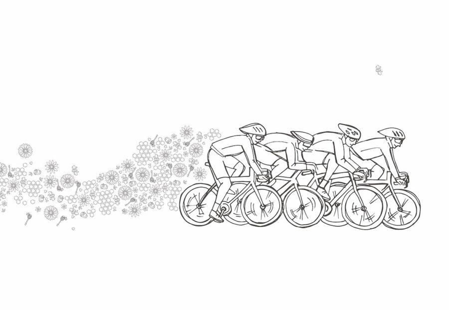 Het campagnebeeld van de fietsactie van Colours of Nature